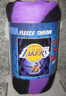 New Los Angeles Lakers La NBA Team Basketball Fleece Throw Blanket