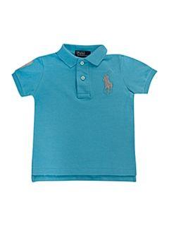 Polo Ralph Lauren Short sleeved neon polo shirt Blue