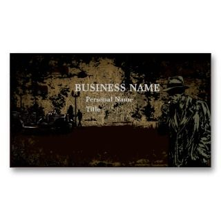 Private Investigator Business Card (retro)