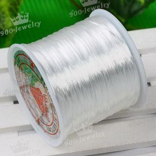 mm White Stretch Elastic Bead Cord String 80 Yard