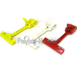 White Sign Clip Price Label Holder 17cm Long