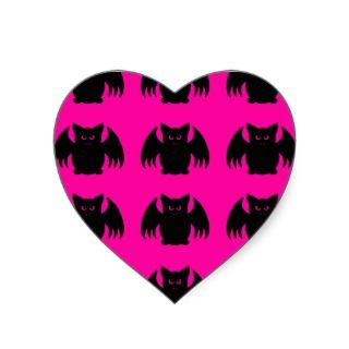Cute punk rave vampire bats envelope seals heart sticker