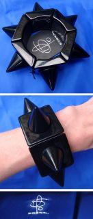 Huge Designer Runway Sobral Karl Lagerfeld Resin Lucite Black Bracelet
