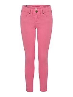 Lands End Girl`s pencil leg jeans Pink