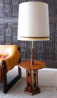 Mid Century Modern Floor Lamp Table Danish Modern Madmen Panton Era