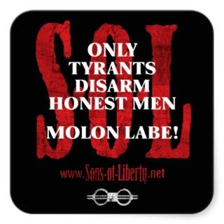 Sons of Liberty MOLON LABE stickers