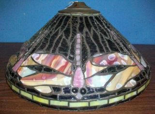 High Quality Dragonfly Stained Glass Lamp Shade