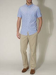 Linea Gibson jaqcuard short sleeved shirt Blue