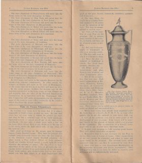 Junior Baseball for 1936 Howard Savage Trophy World Champions Program