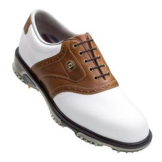 Limited Mens DryJoy Tour Golf Shoes #53733   White/Bomber Taupe   9 M
