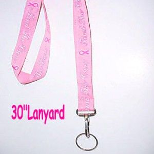 Pink Ribbon Lanyards Breast Cancer Awareness R14 Nice