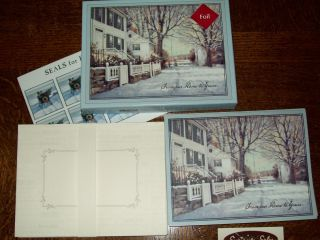 New Boxed Lang Paul Landry Southport Winter Christmas Cards enV 16 Ct