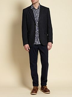 Howick Midnight garden printed shirt Navy