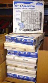 Lakewood 20 Box Fan 3 Speed Low Medium High Settings Cooling Unit