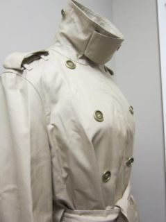 Burberry Brit Langford Double Breasted Trench Coat 10 US 44 EU Wicker