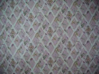 Pink Lattice Garden Cotton Drapery Upholstery Fabric