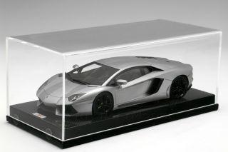 LAMBORGHINI AVENTADOR Antares Gray & Carbon Display 118 MR Models
