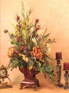 Large Terra Cotta Peonies Artificial Silk Floral Flower Arrangement