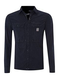 Diesel Two pocket washed effect shirt Navy