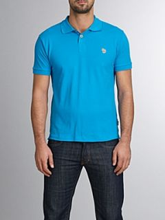 Paul Smith Jeans Zebra logo regular fit polo Turquoise