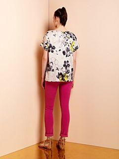 Mary Portas Mono flower print blouse Black & White