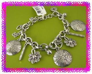 Brighton Silver La Paz Charm Bracelet NWTag