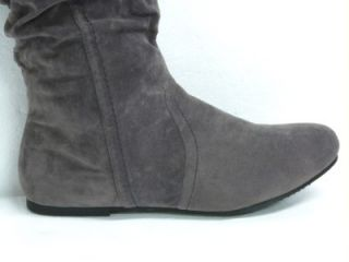 Lane Bryant Frost Gray Double Upper Buckle Detail Boots Sz 8W