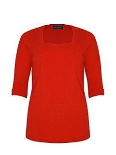 Ann Harvey Red soft touch square neck jumper Red   House of Fraser