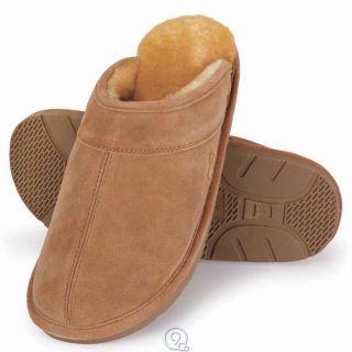 LAMO Mens Genuine Australian Sheepskin Scuffs Shoes Size Medium 9 10