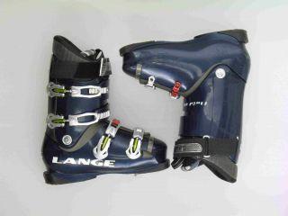 Used Lange Fluid 80 Blue Ski Boots Mens Size 9 5