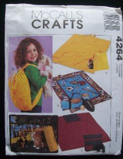 2003 McCalls Craft Pattern 4264 Fleece Blankets