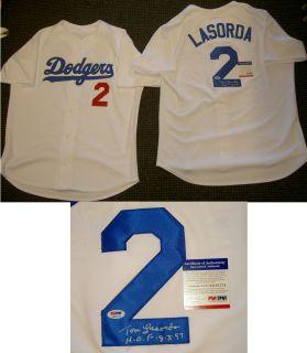 Tommy Lasorda Autograph Signed Baseball Jersey PSA DNA
