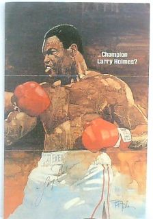 Larry Holmes Autograph Boxing Signature Signed on Page