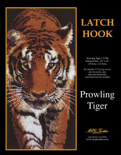 Prowling Tiger Latch Hook Kit 22x44 37768
