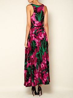 Michael Michael Kors Sleeveless printed maxi dress with belt Multi Coloured