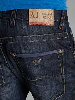 Armani Jeans J08 slim fit heavy wash jeans Denim Dark Wash