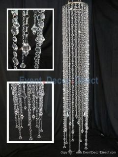 Large Acrylic Crystal Beaded Chandelier Wedding Event Party Decor