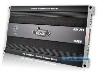MXA254 Lanzar Amp Max Series 2 Channel Car Audio Speaker 4000W Power