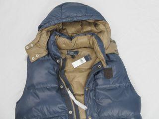NWT New $225 Polo Ralph Lauren Peak Down Puffer Vest L Blue