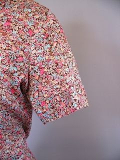 Liberty of London Floral Tana Lawn Cotton Fabric Ladies Blouse Shirt