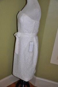 CREW Collection Laura Lace Dress in Ivory 14 $298 NWT Dress Evening