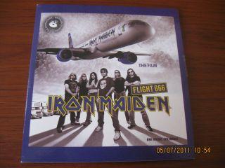 IRON MAIDEN 2 CDs SINGLE (Flight 666+THE FINAL FRONTIER) PROMO PRESS
