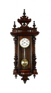 Antique German Black Forest Lauer Kuhn Wall Clock at 1900