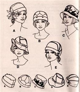 Simplicity 1736 Misses Vintage Style Hats in s M L Sizes Sewing