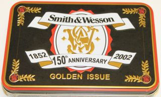 Smith Wesson 150th Anniversary Golden Issue Folding Knife w Collectors