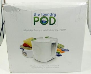 Laundry Pod Environmentally Friendly Portable Washing Device White