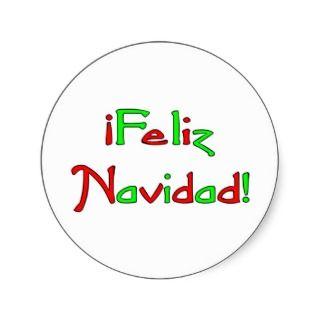 Deseo de Feliz Navidad Round Stickers