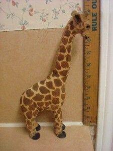 Giraffe Statue Hand Carved Wooden Figurine Art
