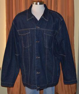Robert Graham Dark Blue 100 Cotton Denim Jean Jacket Mens 4XL XXXXL