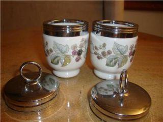 Royal Worcester Porcelain Egg Coddlers Lavina Floral Patterns